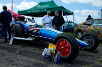 Allard Dragster- Allard Dragster at Wheels Day - Dunsfold Aerodrome with Nitroman, The Stig and Melanie Butler